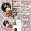 Satin & Red Roses Folded Photo Wedding Invitations Package