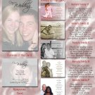 Full Picture in Color Folded Photo Wedding Invitations Package