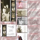 Vintage Hollywood Film Strip Folded Photo Wedding Invitations Package
