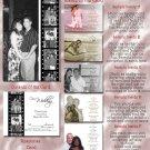 Black/White Hollywood Film Strip Folded Photo Wedding Invitations Pkge