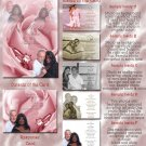 Pink Rose Folded Photo Wedding Invitations Package