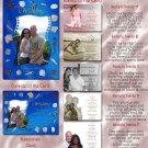 Seashells Marine Beach Folded Photo Wedding Invitations Package