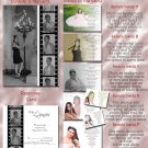 BW Filmstrip Red Carpet Photo Quinceanera Sweet 16 Invitations Package