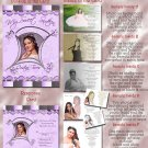 Goovy in Lavender Folded Photo Quinceanera / Sweet 16 Invitations Pkge