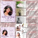 Crowned Princes Lilac Photo Quinceanera / Sweet 16 Invitations Pkge