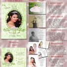 Crowned Princes Green Photo Quinceanera / Sweet 16 Invitations Pkge