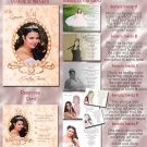 Crowned Princes Peach Photo Quinceanera / Sweet 16 Invitations Pkge