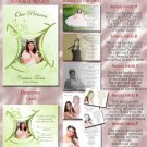 Princess Tiara Green Folded Photo Quinceanera Sweet 16 Invitations Pkg