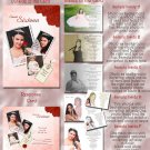 Red Roses Folded Photo Quinceanera / Sweet 16 Invitations Package