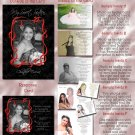 Trendy Black Any Color Photo Quinceanera Sweet 16 Invitations Pkge