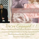 Modern Multi Color Photo Engagement and Wedding Announcements