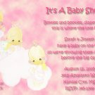 Precious Moments Baby Shower Invitations Three Girls  Angels in Pink