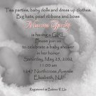 Photo Baby Shower Invitations Baby Feet in Blanket bw  for Girl