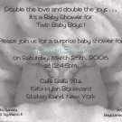 Photo Baby Shower Invitations Baby Feet Twins in Black and White