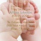 Photo Baby Shower Invitations Baby Feet Elegant and Classy Neutral