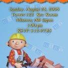 Bob the Builder Baby Shower Invitations Construction Handy Man Boy