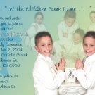 Multi Photo in Blue Yellow Photo Communion Invitations & Confirmation