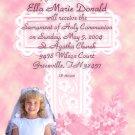 Serenity Cross Pink Photo Communion Invitations & Confirmation