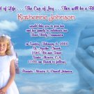 Clouds & Cross Photo Communion Invitations & Confirmation Invitations