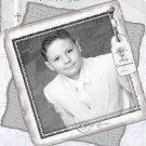 Graceful in Silver Photo Communion Invitations & Confirmation