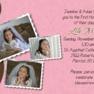 Joyful Collage Brown/Pink Photo Communion Invitations Confirmation