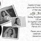 Joyful Collage Black/White Photo Communion Invitations Confirmation