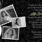 Elegant Collage Black/White Photo Communion Invitations Confirmation