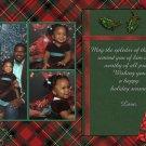 Custom Photo Christmas Cards 5 x 8 Elegant Classic Red and Green Plaid