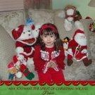 Custom Photo Christmas Cards 5 x 8 Modern Trendy Swirly Red & Green