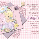 Pink Precious Moments Baby Shower Invitations
