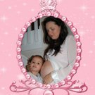 Princess Baby Shower Invitations - Photo in Frame and Castle Pink