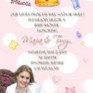 Polka Dots Princess Invitations - with Photo or Ultrasound Pink
