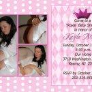 Three Photo Sweet Princess Photo Baby Shower Invitations