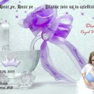 Princess Crystal Stroller Photo Baby Shower Invitations Lavender