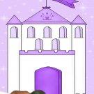 Castle Princess Photo Baby Shower Invitations in Lavender -  Photo