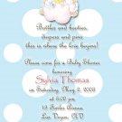 Angels Precious Moments Baby Shower Invitations Blue and Polka Dots