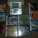 Nintendo DS Platinum system with 9 video games (5 MINT COMPLETE, 4 SEALED) FOR SALE