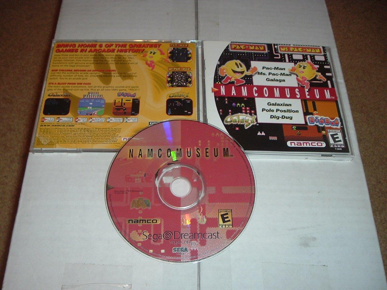 Namco Museum (Sega Dreamcast) COMPLETE 6 arcade games in 1 anthology namcomuseum, For Sale
