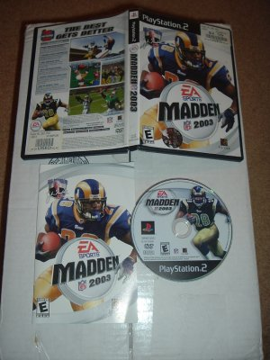 Madden NFL 2003 (PS2) COMPLETE IN CASE game for sale, Save $$ by combining items