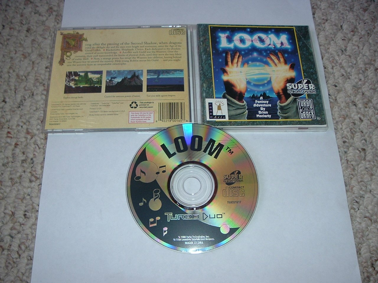 Loom MINT- & COMPLETE IN CASE (Turbo Duo Super CD, grafx 16 CD) RARE lucas arts game FOR SALE