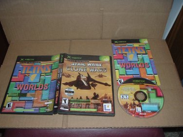Star Wars: Clone Wars & Tetris Worlds (XBOX) EXCELLENT+ and with Manual, game FOR SALE