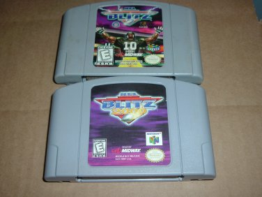 NFL Blitz & NFL Blitz 2000 (N64, Nintendo 64) becoming more rare, great football games FOR SALE
