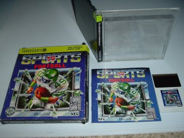 TV Sports Football COMPLETE with ORIGINAL BOX (TurboGrafx 16, Turbo Grafx Duo,) For Sale