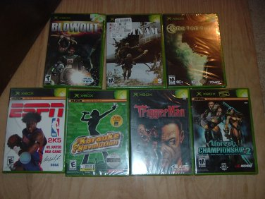 7 XBox BRAND NEW FACTORY SEALED Game Lot microsoft Bundle: 7 Games All in Original Wrap, FOR SALE