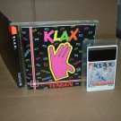 Klax NEAR MINT- & COMPLETE IN CASE (rare Turbo Grafx 16, Duo, Express) addictive game for sale