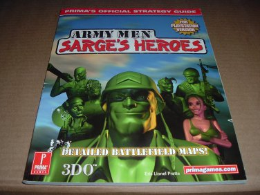 Army Men: Sarge's Heroes (PS1) Official Strategy Guide Book for the Sony Playstation game, for sale