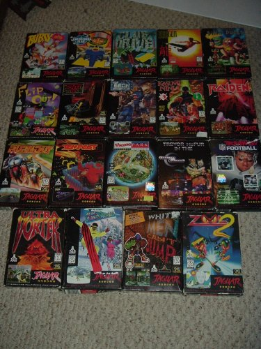 Atari Jaguar System with 20 GAMES, 2 controllers, Team Tap.  Great BUNDLE FOR SALE