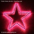 Twinkle Twinkle Little Star Christmas Ornament Rope Light Display, Purple