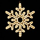 Stellar Snowflake Christmas Rope Light Display, Holiday Ornament, White