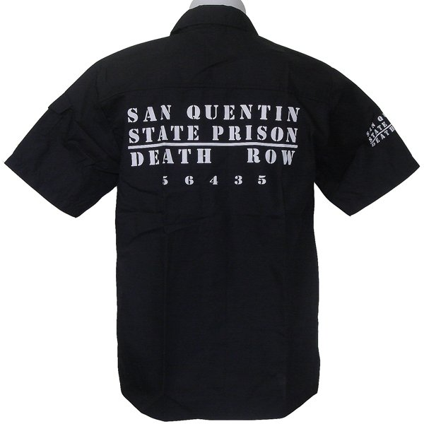 SAN QUENTIN PRISON FANCY funny BLACK SHIRT L